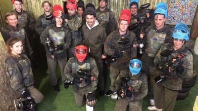 Paintball with crew