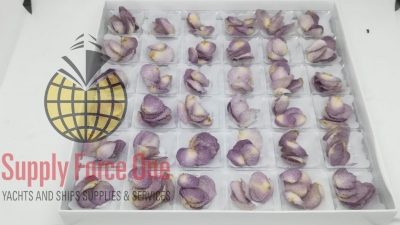 Crystallized purple rose petals